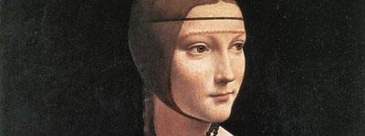 Portrait of Cecilia Gallerani (detail)